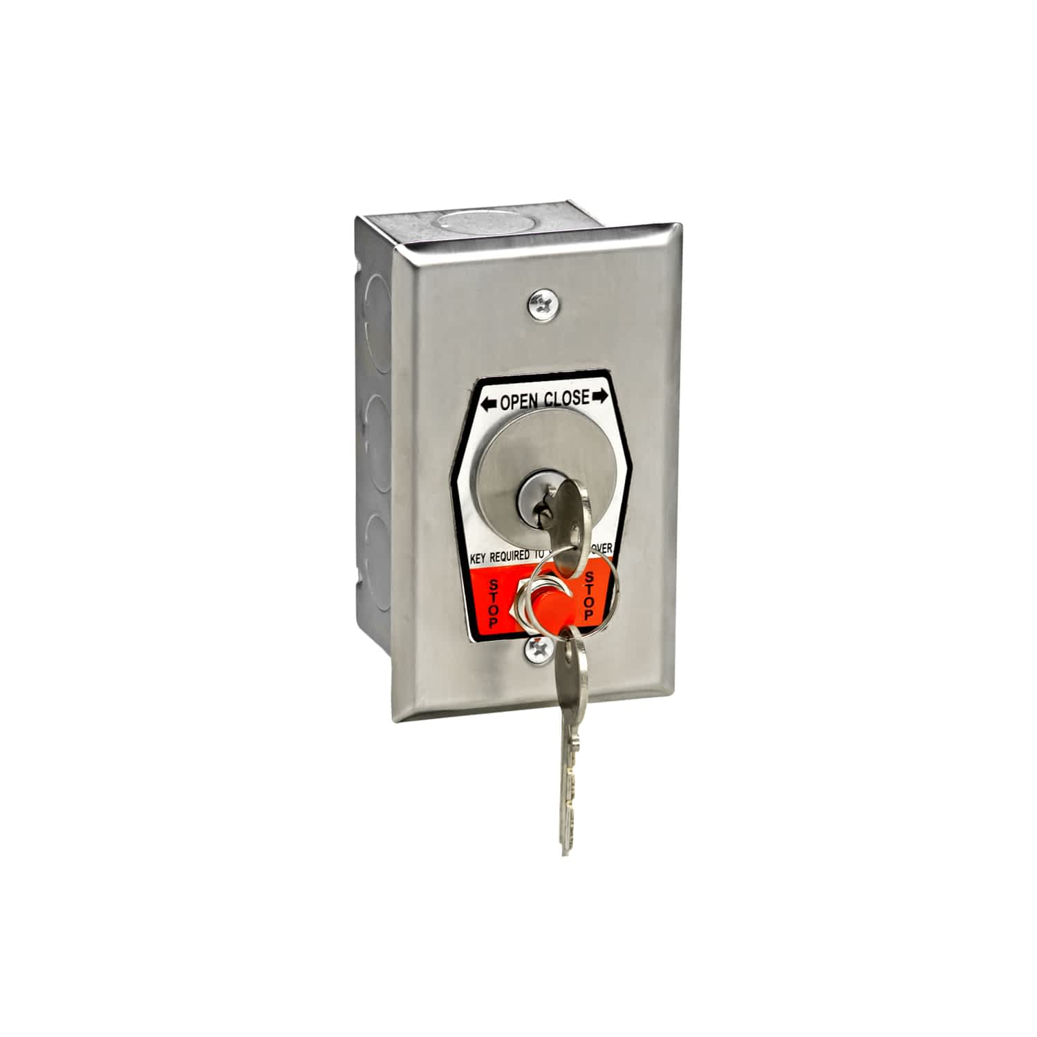 Changeable Core Cylinder Key Switch with Stop Button