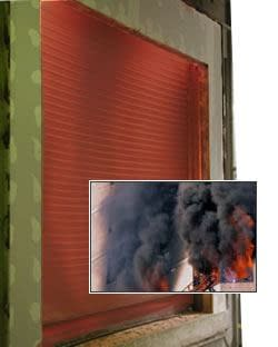 Auto Smoke Fire Tite Rolling Steel Door