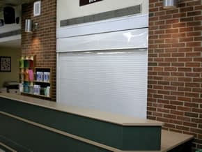 Counter Shutters being utilized in a school cafeteria