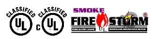 Smoke Fire Storm Logo